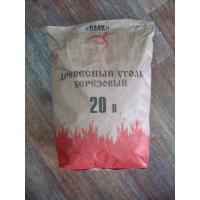 Уголь березовый древесный 3 кг. Омск в красн. крафт мешках