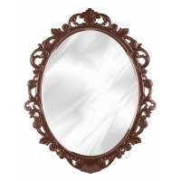 """Зеркало в рамке """"Ажур"""" 585*470мм Тем.-корич"""