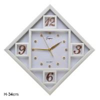 ГА Часы настенные 34 см. /7898В-1/ уп. 10/ белые