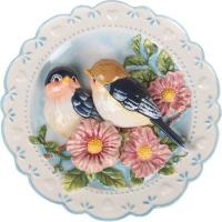 """АМ Тарелка декорат. """"Птицы на яблоневой ветке"""" Д=20 см."""