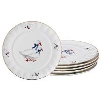 АМ Набор десертных тарелок ГУСИ из 6 шт. д=20 см./6/