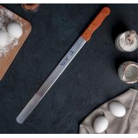 Нож для бисквита ровный край , ручка дерево, рабочая поверхность 36 см 1030222