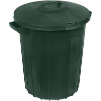 Бак для мусора 90 л. 58*52 зеленый Мультипласт/1/