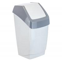 Идея Контейнер для мусора ХАПС 15 л. мрамор п/м/6/