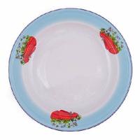 Нов-цк Блюдо эм. 3 л. декор. с салатным тонированием*7