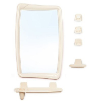 Набор д/ванной с зеркалом СВЕТЛО-БЕЖЕВЫЙ  НВ05107000*5