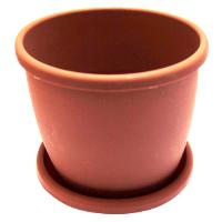 Горшок Афина 0,5л. с под. коричневый