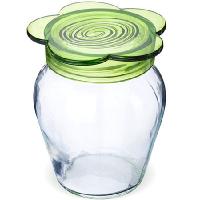 МВ Банка для сыпучих стекло Зеленый 370 мл.