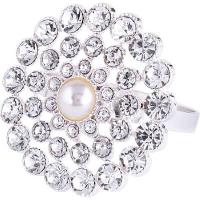 МВ Кольцо для салфеток серебро камни 1ШТУКА 14476 NS/72/