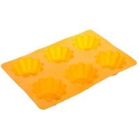 SATOSHI Форма  д/выпечки кексов 6 ячеек, гофро 25,5*18*3,5 см. силикон HS-027