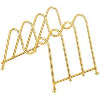АМ Подставка для досок , крышек на 3 шт 21*15 см  высота 14 см. цвет-золото /60/