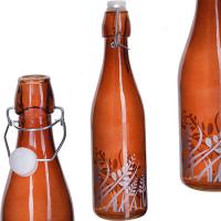 МВ Бутылка стекло с кр. 1 л. LR коричневый/12/